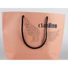 Black Custom Embossing Logo Environment Friendly Paper Bag