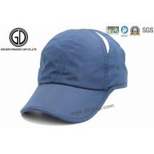 Casquillo de encargo del sombrero del deporte del golf del ocio del Microfiber del poliester