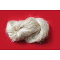 Cor sólida saudável tingida de algodão de bambu Fio misturado Fibra natural Fio de bebê