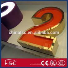 Publicidad muestra tablero led Letras luminosas acylic