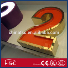 Advertising board sign led acylic luminous letters