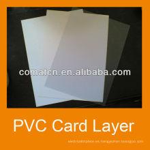 Hoja del PVC de la capa de la tarjeta