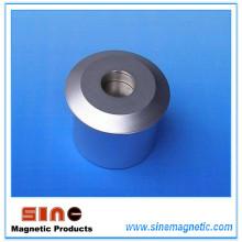 Détecteur d'étiquettes de sécurité EAS magnétique en aluminium