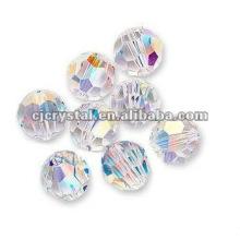 6MM facetado redondo contas de vidro, contas de vidro para lustre