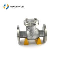 JKTLPC054 industrial inline stainless steel flow control butterfly check valve