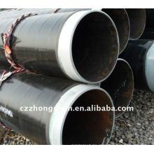 X42 / X52 / X60 / X65 / X70 Tubo de aço espiral com tubo 3PE / SSAW