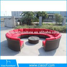 Venda quente Lazer Rodada Rattan Lounge Set Sofá