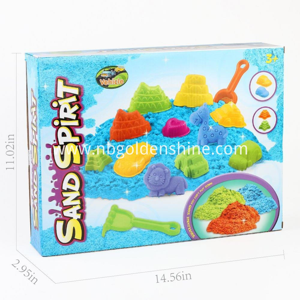 Kids DIY Colorful Magic Space Sand With Tools