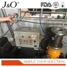 Válvula de pellizco de acero Pnumatic industrial sin satinado con brida