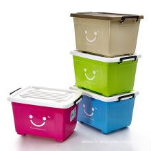 Colorful Smile Design Conteneur de stockage en plastique pour stockage (SLSN048)