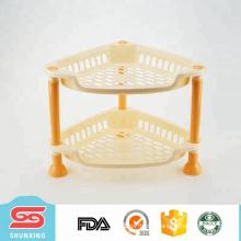 Cheap plastic triangular basket shelf organizer for sale