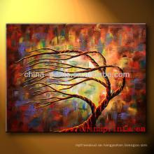 Neuestes handgemachtes abstraktes Baum-Acrylmalerei für Dekor