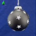 Adorno de bolas de vidrio con forma de estrella para la fiesta navideña