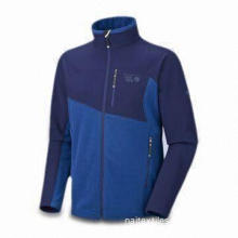 Men's Fleece Jacket with Fashionable Design, Two Hand Warmer Pockets and Vislon Zipper