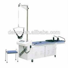 Cama de tração para tratamento de vértebras cervicais e lombares