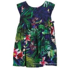 Мода цветок платье Детская одежда