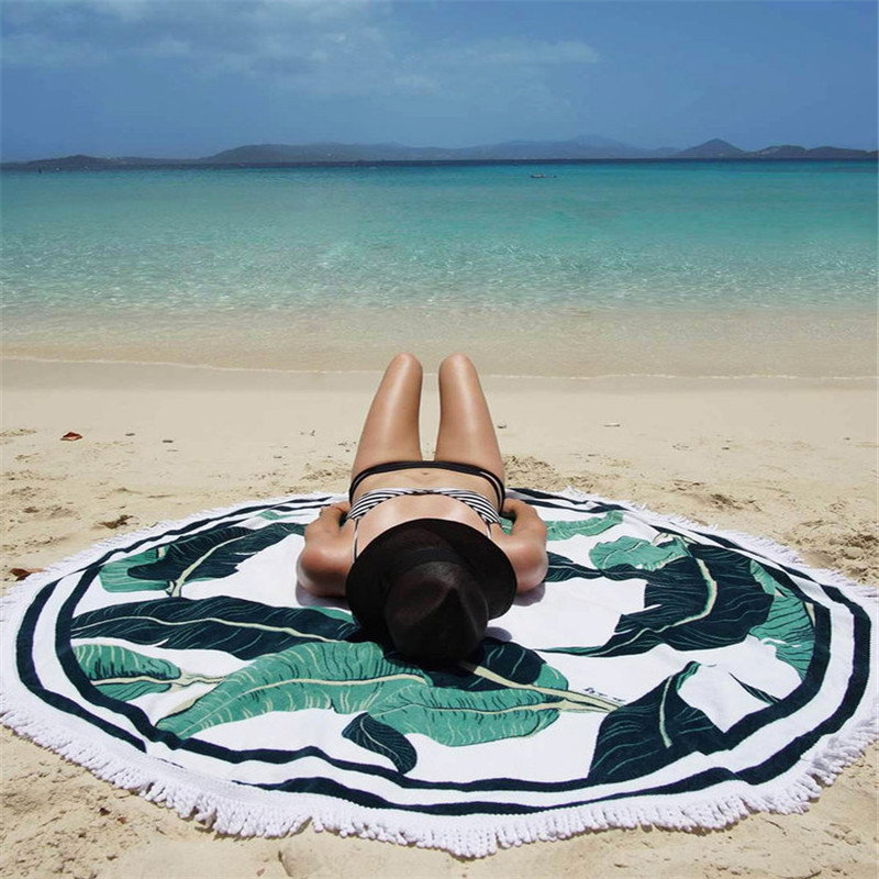 Round Fringe Travel Beach Towel