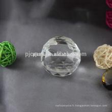 2015 diamant forme de pomme transparent titulaire de la carte de nom de cristal
