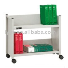 metal library trolley for books