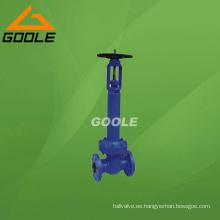 Válvula de compuerta de fuelle de acero fundido API (GAWJ41H)