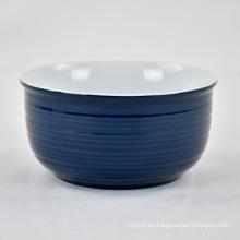 Sopa de tazón de cerámica de fideos redondos baratos personalizados de lujo de cocina
