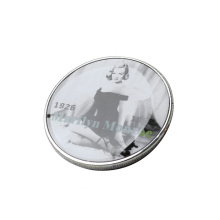 Promotional gift decorative blank silver coin