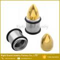 2 en 1 oreja intercambiable plata chapado en oro Tapers Gauges Expander Camilla