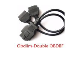 OBD2 Macho a doble Cable de adaptador hembra OBD2