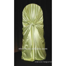 self-tie back chair cover,CT195 satin chair cover,universal chair cover