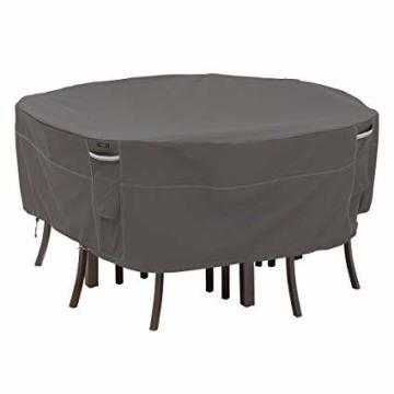 Runde Tischabdeckung Außenschutzabdeckung Anti-UV-Abdeckung