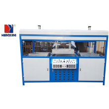 Semi auto double stations blister vacuum forming machine