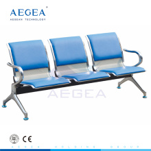 AG-TWC002 with three seats stainless steel chair manufacturer