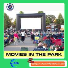 Personnalisé pratique oxford tissu en plein air film film gonflable dans le parc