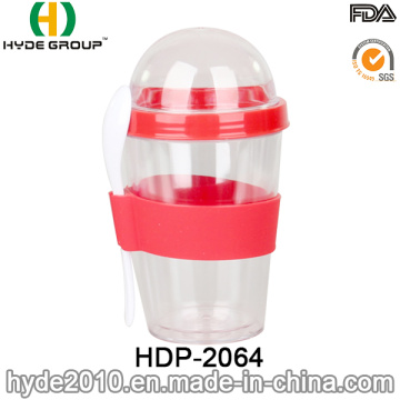 BPA libre ensalada plástico Shaker Cup (HDP-2064)