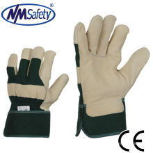 NMSAFETY натуральное коровье зерно кожа рабочие перчатки