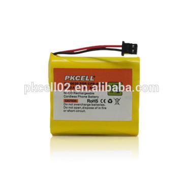 Paquete de batería recargable PKCELL AA 600mAh 3.6V NiCd