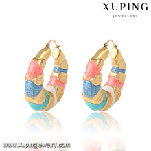 92120 Hot venda promoção mulheres jóias estilo indiano colorido brincos de argola