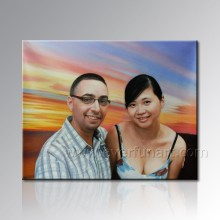 Peinture de portrait fait main de la photo