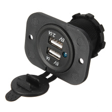 Double usb voiture allume-cigare splitter chargeur adaptateur chargeur sortie 12v