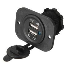 Двойной автомобилей USB прикуривателя Splitter зарядное устройство адаптер питания выход 12В