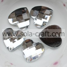 18mm New Design Crystal Clear Acrylic Lucite Faceted Heart Bead