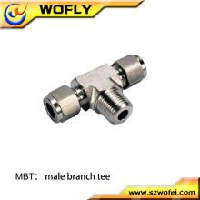 Conexões em T para tubos de pressão hidráulica roscados BSPT BSP