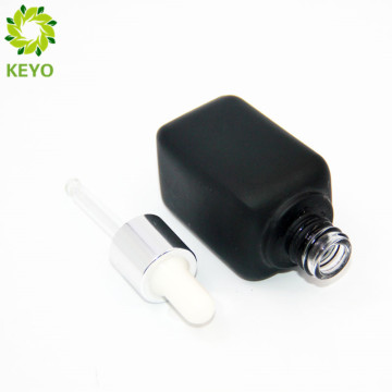 Black skin foundation cosmetic containers pump container black color aluminium caps for glass bottles