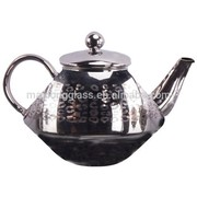 850ml Silver Plating Arabic Tea Pot with laser cutting