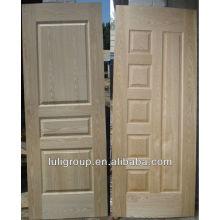 2.5 Piel ceniza Natural de la puerta HDF chapa de-4 mm tamaño estándar