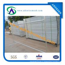 Usine ISO9001 de barrière temporaire galvanisée de haute qualité