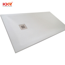 KKR Customize white shower base composite stone shower tray for hotel projects