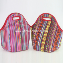 Wholesale foldable neoprene lunch cooler bags with zipper