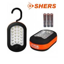 24 + 3 LED de luz de trabajo con imán y gancho giratorio oculto