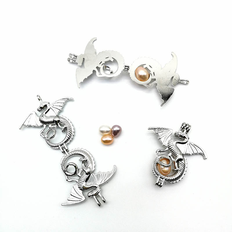Locket Dragon Pearl Pendant